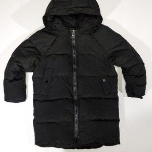 Zara Girls Black Down & Feathers Puffer Jacket